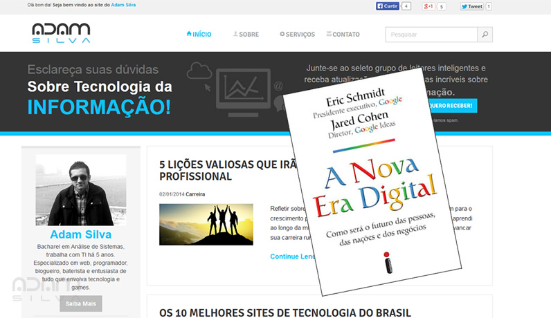 relançamento do blog adam silva